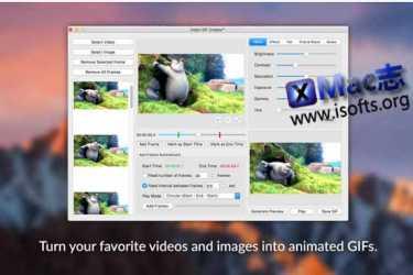 [Mac]将视频/图片转换为GIF动图的工具 : Video GIF Creator