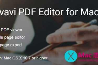 [Mac] PDF编辑工具 : Movavi PDF Editor
