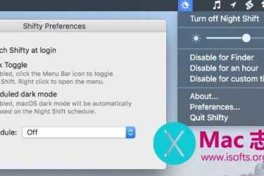 [Mac]夜间模式增强型控制工具 : Shifty