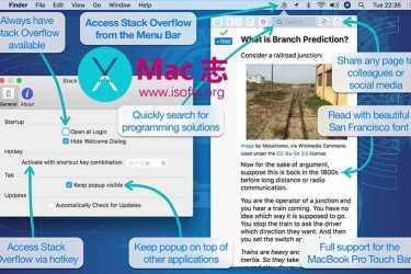 [Mac]菜单栏的StackOverFlow快速访问工具 :Stack Menu