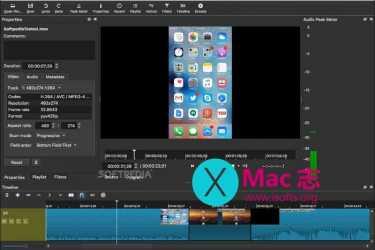 [Mac]免费的专业视频编辑工具 :Shotcut for Mac