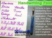 [Mac]手写字体集 : Handwriting Fonts