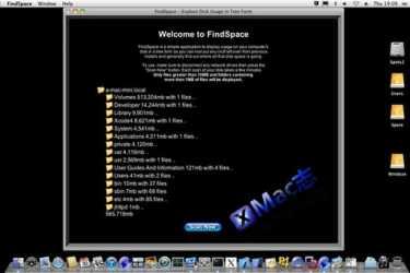 FindSpace : Mac平台下的树形目录的磁盘空间查看工具