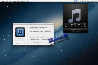 Mac平台iTunes菜单栏控制播放插件 : Skip Tunes