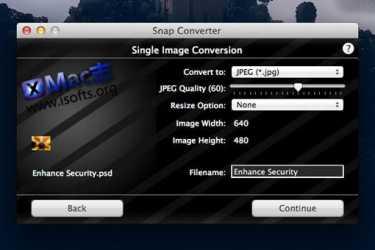 Mac平台下支持添加水印的图片格式转换工具 : Snap Converter