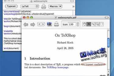 Mac平台的文本排版编辑器 : TeXShop