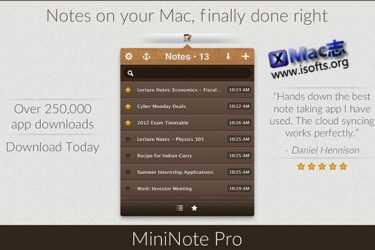 [Mac]笔记记事软件 : MiniNote Pro