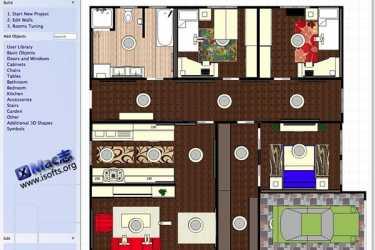 [Mac]房屋户型图设计工具 : Room Arranger