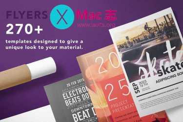 [Mac] Pages促销类设计模板套件 :Flyer Templates – Design