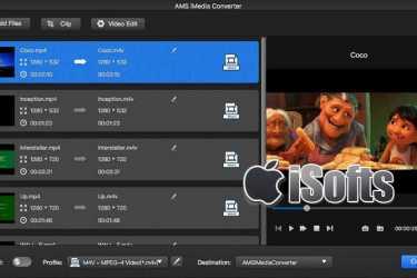 [Mac]视频格转换及音频格式转换工具 :AMS iMedia Converter