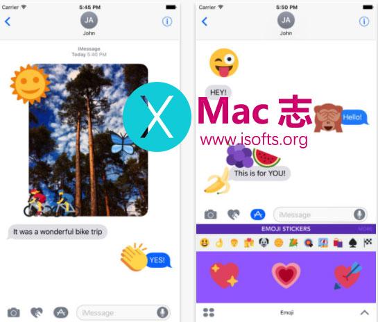 [iPhone] iMessage表情贴纸包 :Emoji Stickers