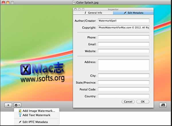 [Mac]图像批量水印工具 : WatermarkSpell