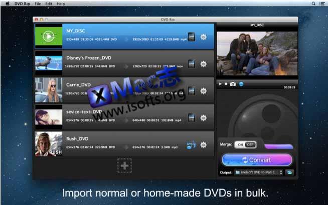 [Mac] DVD抓取转换工具 : Enolsoft DVD Ripper