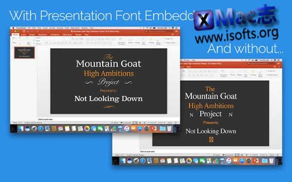 [Mac]让PPT文件包含字体文件 : Presentation Font Embedder