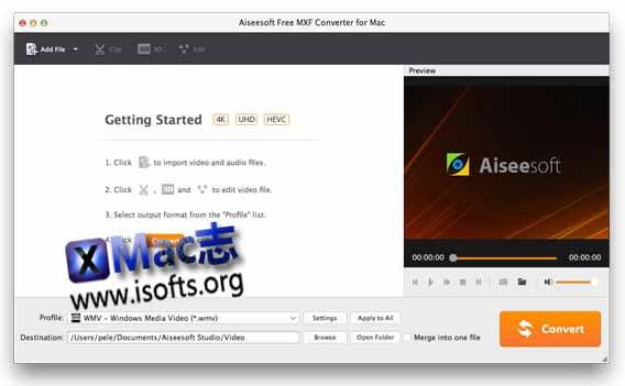 [Mac]专业的MXF视频格式转换工具 : Aiseesoft MXF Converter for Mac