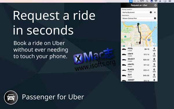 [Mac] Uber叫车工具 :Passenger for Uber