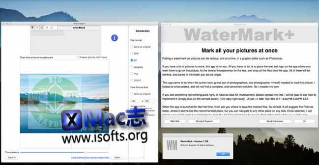 [Mac]图片水印制作工具 : WaterMark+