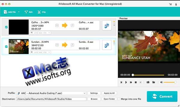 [Mac]全能音频格式转换工具 : 4Videosoft All Music Converter