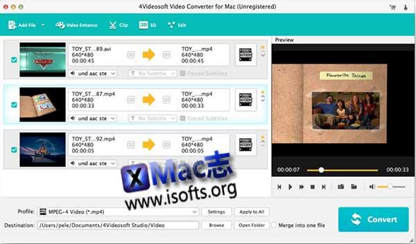 [Mac]视频转换软件 : 4Videosoft Video Converter for Mac