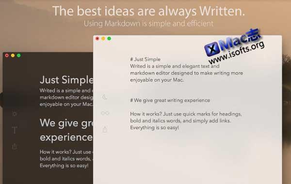[Mac]文本编辑器 : Writed