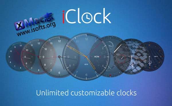 [Mac]桌面倒计时及世界时钟工具 : iClock