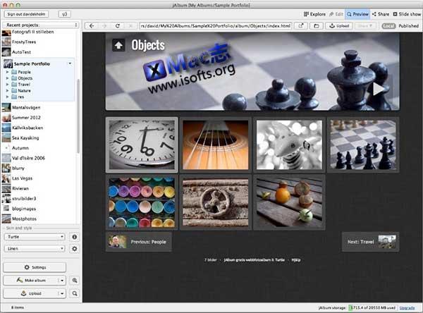 [Mac] Web相册制作工具 : jAlbum