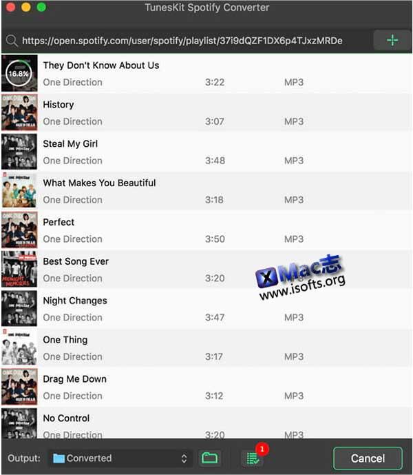 [Mac] Spotify音乐下载及转换工具 : TunesKit Spotify Converter