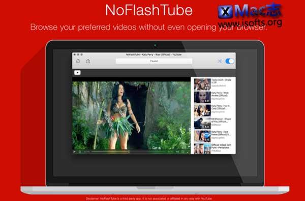 [Mac]在线视频播放器软件 : NoFlashTube