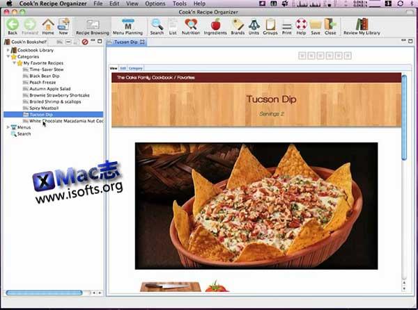 [Mac]食谱菜单收集管理工具 : Cook'n Recipe Organizer