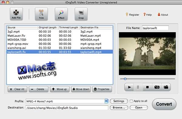 [Mac]视频格式转换工具 :iOrgsoft Video Converter