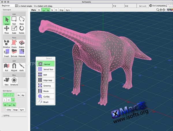 [Mac]三维模型设计软件 : Tetraface Inc Metasequoia