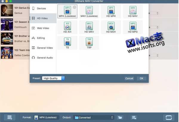 [Mac] iTunes DRM信息移除及文件转换工具 : DRmare M4V Converter