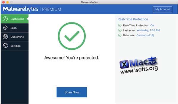 [Mac]病毒及恶意软件防护工具 : Malwarebytes