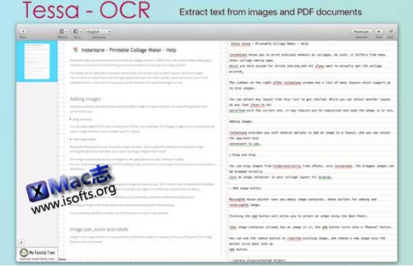 [Mac] OCR文字识别工具 : Tessa OCR