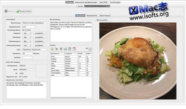 [Mac]食谱管理工具 :Rezeptverwaltung
