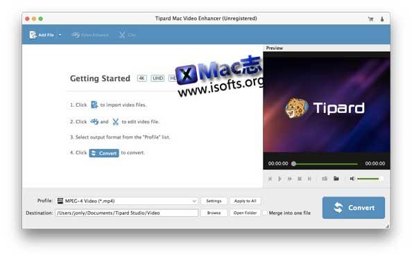 [Mac]视频画质增强工具 : Tipard Mac Video Enhancer