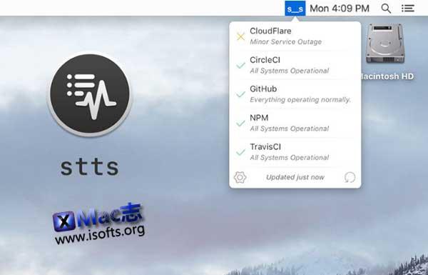 [Mac]主流的云服务状态监测工具 : stts