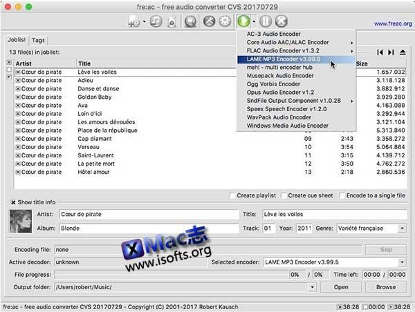 [Mac]音频格式转换及CD音频抓取工具 : freac
