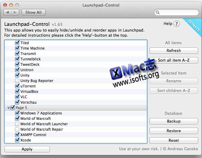 Launchpad-Control:轻松管理Launchpad内的软件图标