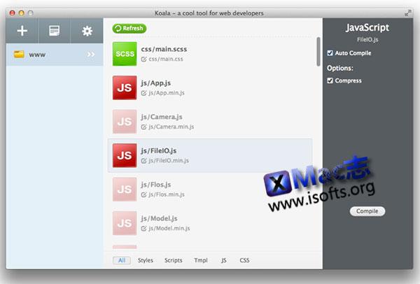[Mac]前端预处理器语言图形编译工具 : Koala
