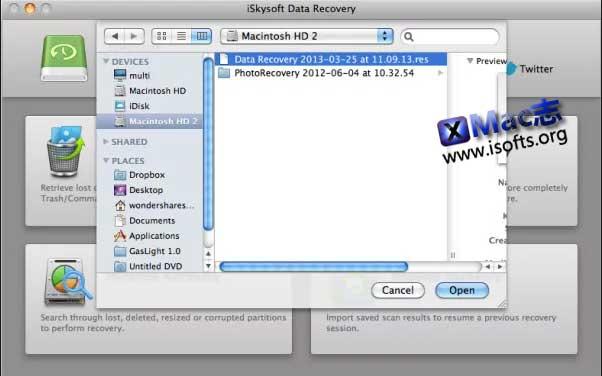 [Mac]数据恢复软件 : iSkysoft Data Recovery