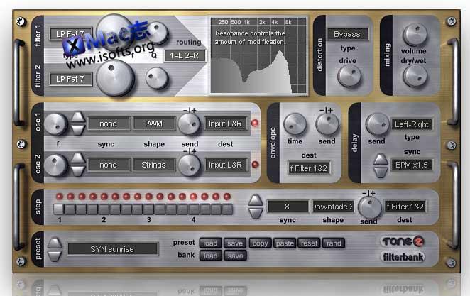 [Mac]效果合成器 : Tone2 FilterBank
