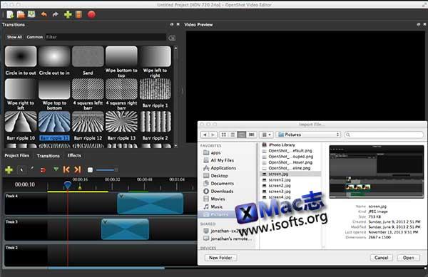 [Mac]专业的视频后期软件 : OpenShot