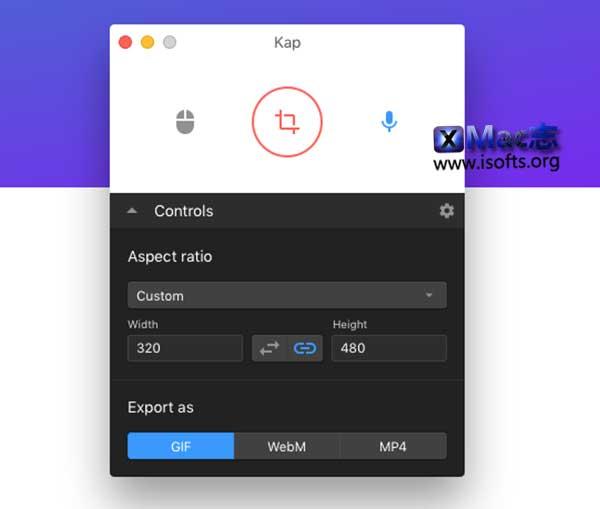 [Mac]轻量GIF屏幕录像工具 : Kap