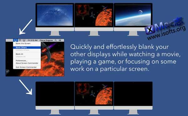 [Mac]多屏状态让指定显示器黑屏 : Screen Commander