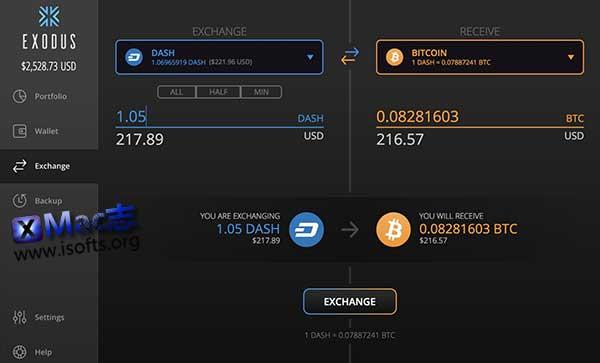 [Mac]网络虚拟货币资产管理工具 :Exodus
