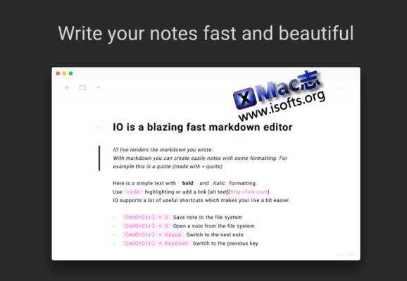 [Mac] Markdown笔记工具 : IO