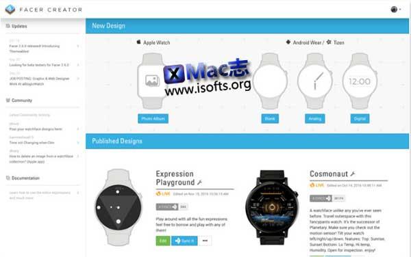 [Mac]智能手表表盘显示界面设计工具 : Facer Creator