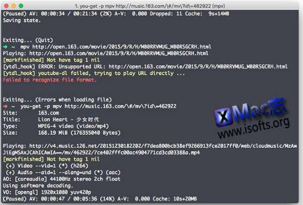[Mac]基于命令行的网络视频下载工具 : You-Get