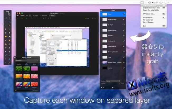 [Mac]截图并存储为图层分层PSD文件 : ScreenToLayers